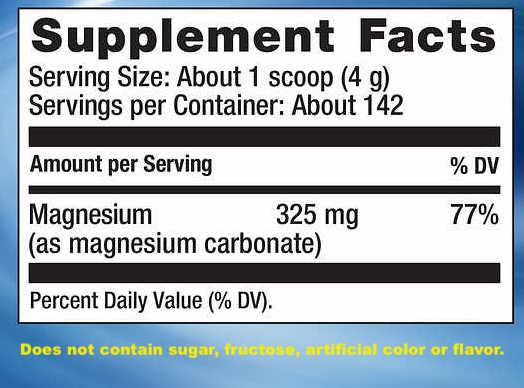 檸檬酸鎂粉 Natural Vitality Calm Magnesium Citrate Powder